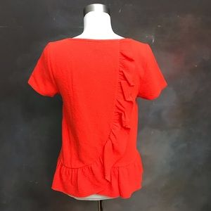 Anthropologie Postage Stamp Ruffled Blouse